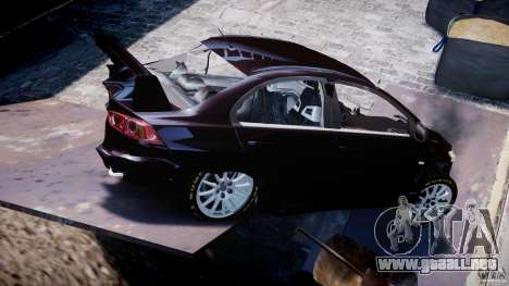 Mitsubishi Lancer X para GTA 4 interior