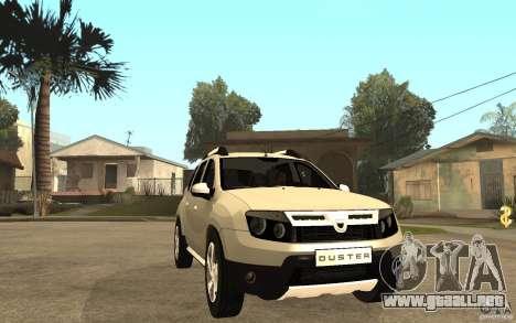 Dacia Duster 2010 SUV 4x4 para GTA San Andreas vista hacia atrás