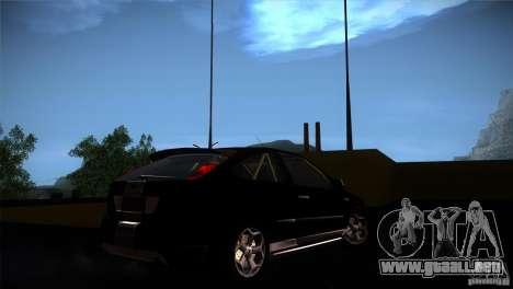 Ford Focus 2 Coupe para GTA San Andreas vista hacia atrás