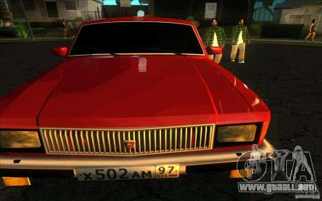 GAZ 3102 Volga Limousine para la visión correcta GTA San Andreas