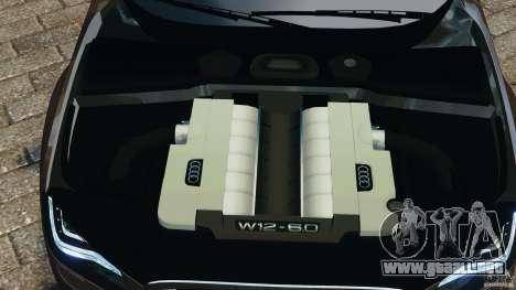 Audi A8 Limo v1.2 para GTA 4 vista superior