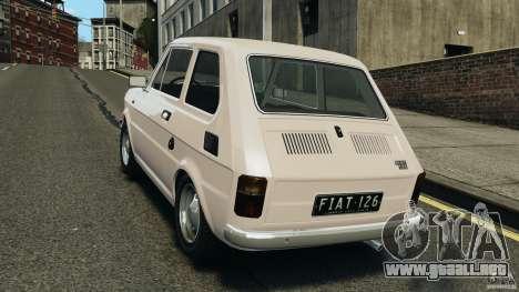 Fiat 126 Classic para GTA 4 Vista posterior izquierda