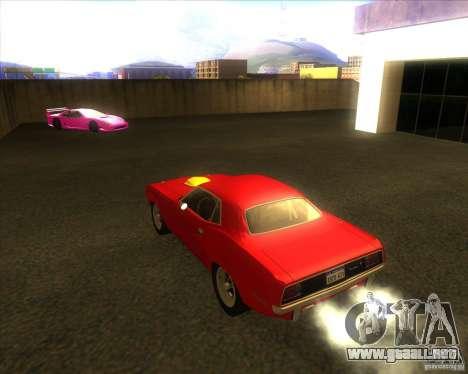 Plymouth Hemi Cuda para GTA San Andreas vista posterior izquierda