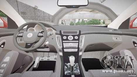 Cadillac CTS-V Coupe para GTA 4 vista hacia atrás