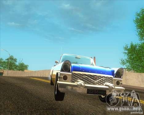 GAZ Chaika 13B para GTA San Andreas vista posterior izquierda