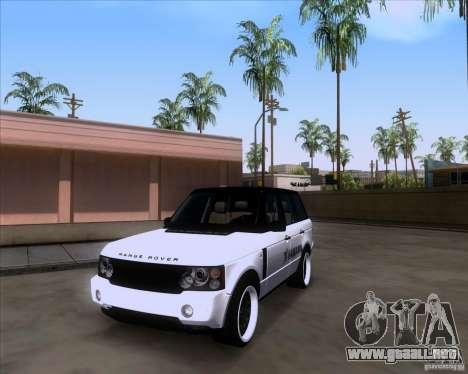 Range Rover Hamann Edition para la visión correcta GTA San Andreas