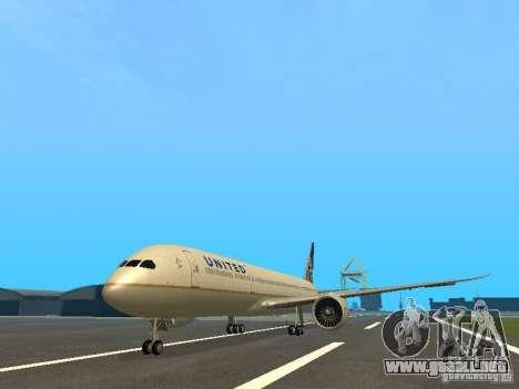 Boeing 787 Dreamliner United Airlines para GTA San Andreas