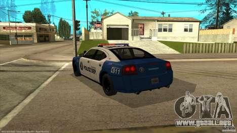 Dodge Charger Los-Santos Police para GTA San Andreas left