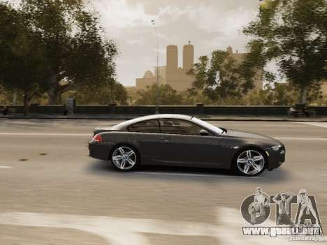BMW M6 2010 para GTA 4 vista lateral