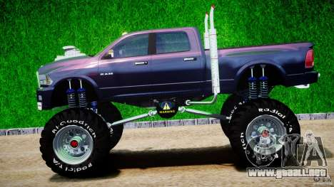 Dodge Ram 3500 2010 Monster Bigfut para GTA 4 left