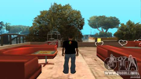 Camiseta de Bob Marley para GTA San Andreas segunda pantalla
