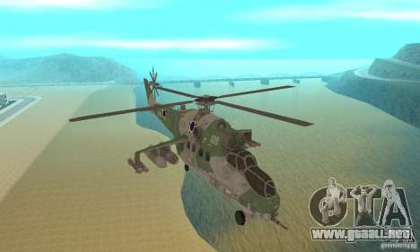 Un helicóptero desde el conflicto Global SSSR para GTA San Andreas vista hacia atrás