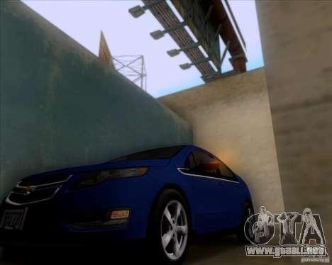 Chevrolet Volt 2012 Stock para GTA San Andreas vista hacia atrás