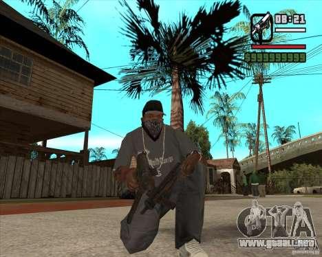 Pak armas de Fallout New Vegas para GTA San Andreas sucesivamente de pantalla