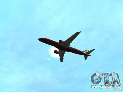 Embraer ERJ 190 Virgin Blue para visión interna GTA San Andreas
