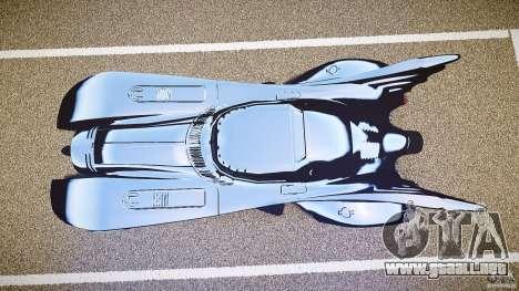 Batmobile v1.0 para GTA 4 vista hacia atrás