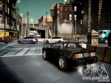 Chevrolet Camaro Iroc-Z 1990 para GTA 4 visión correcta
