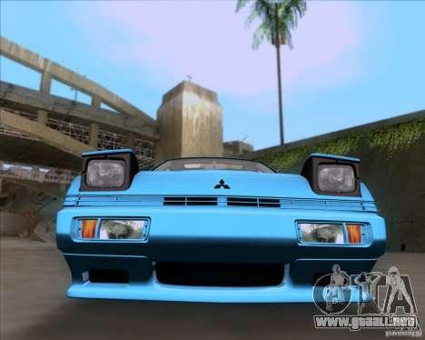 Mitsubishi Starion para GTA San Andreas vista hacia atrás