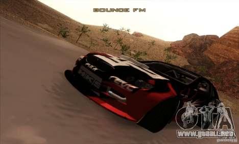 BMW M3 E92 Tuned v2 para GTA San Andreas vista hacia atrás