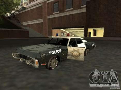 Dodge Polara Police 1971 para visión interna GTA San Andreas