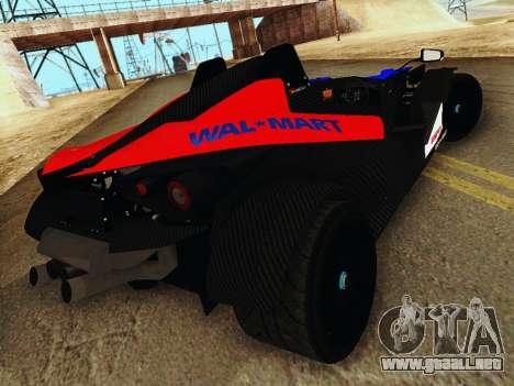 KTM X-Bow 2013 para GTA San Andreas vista posterior izquierda