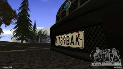 Subaru Forester Turbo 1998 para visión interna GTA San Andreas