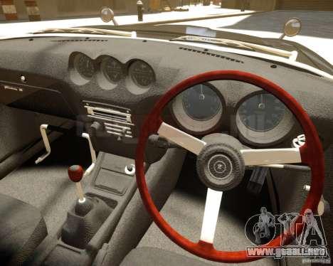 Nissan Fairlady Z HS30-240Z para GTA 4 vista hacia atrás