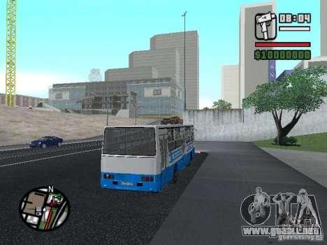 Ikarus 260 seguridad para GTA San Andreas vista hacia atrás