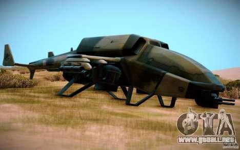 Type 4 Doragon para GTA San Andreas vista posterior izquierda