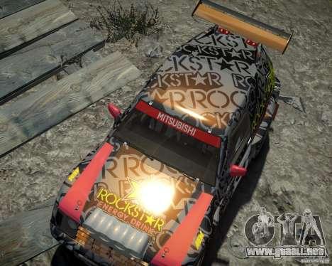 Mitsubishi Pajero Proto Dakar EK86 vinilo 1 para GTA 4 vista lateral