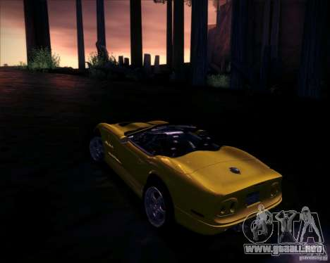 Shelby Series One 1998 para visión interna GTA San Andreas