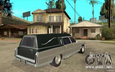 Cadillac Fleetwood 1985 Hearse Tuned para la visión correcta GTA San Andreas