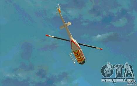 Bell 206 B Police texture2 para vista lateral GTA San Andreas