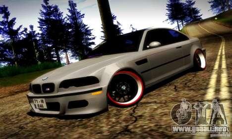 BMW M3 JDM Tuning para la vista superior GTA San Andreas