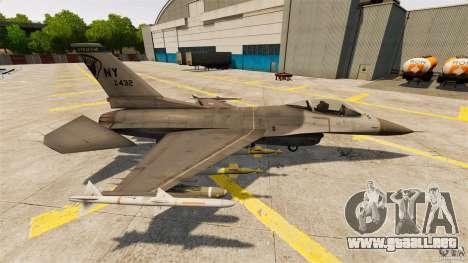 F-16C Fighting Falcon para GTA 4 left