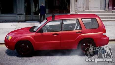 Subaru Forester v2.0 para GTA 4 Vista posterior izquierda