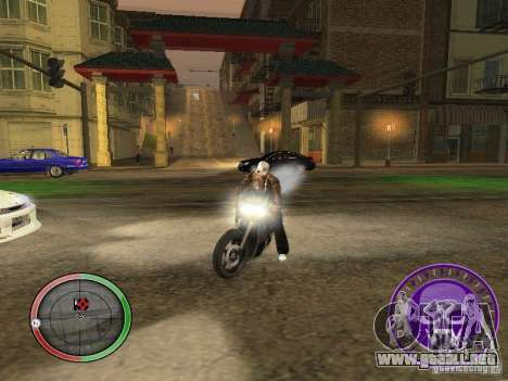 Skul Speedometer para GTA San Andreas segunda pantalla