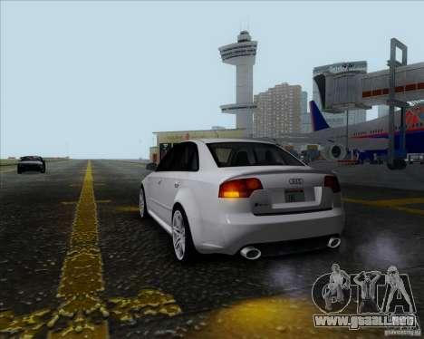 Audi RS4 para GTA San Andreas vista hacia atrás