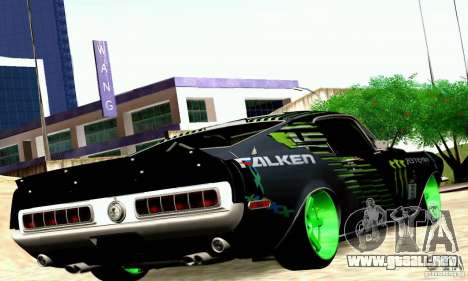 Shelby GT500 Monster Drift para la visión correcta GTA San Andreas