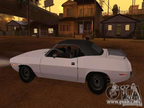 Plymouth Barracuda Rag Top 1970 para GTA San Andreas left
