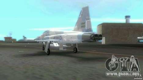 US Air Force para GTA Vice City vista posterior