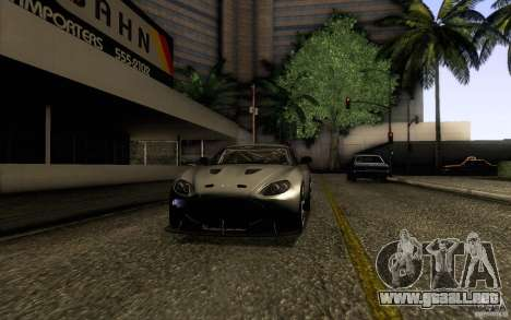 Aston Martin Zagato V12 V1.0 para la visión correcta GTA San Andreas