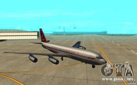Qantas 707B para GTA San Andreas vista posterior izquierda
