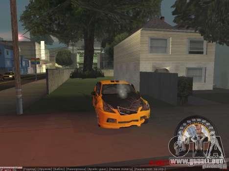 Lexus IS300 para visión interna GTA San Andreas