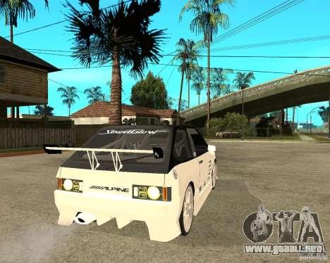 VAZ 2108 extrema para GTA San Andreas vista posterior izquierda