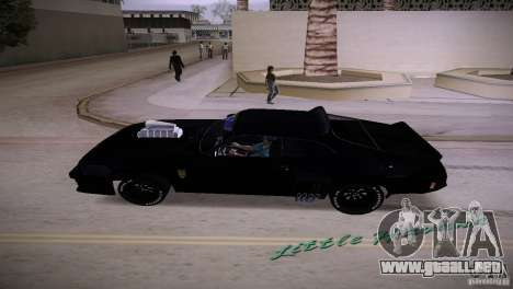 Ford Falcon GT Pursuit Special V8 Interceptor 79 para GTA Vice City vista lateral izquierdo