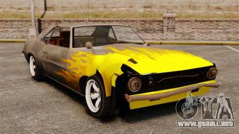 Nuevo colorante oxidado Vigero y Sabre para GTA 4 adelante de pantalla
