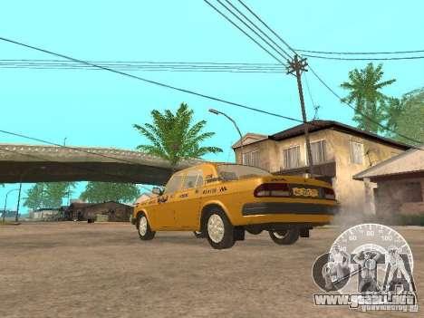 Taxi Volga GAZ 3110 para la visión correcta GTA San Andreas
