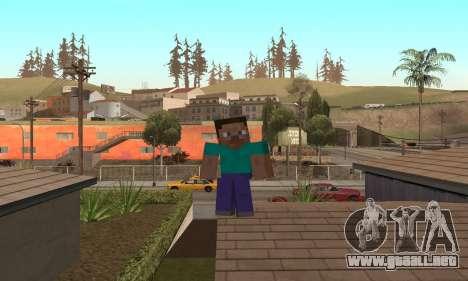Steve de la piel de Minecraft juego para GTA San Andreas sexta pantalla