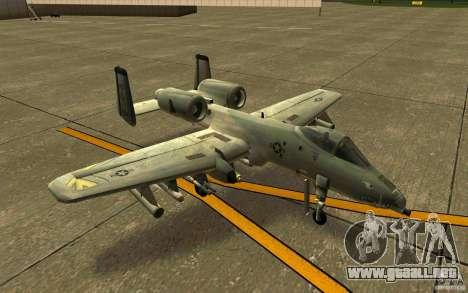 A-10 Warthog para GTA San Andreas left